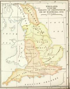 Map Of England 870.The Viking Kingdom History Of York